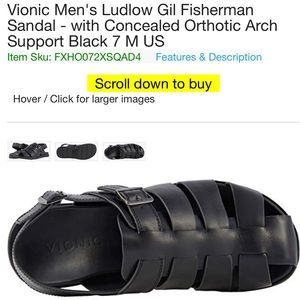 Vionic Ludlow Gil Fisherman orthotic arch support